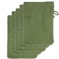 The One Towelling The One Voordeelpakket Washandjes Olive Green - 10 stuks