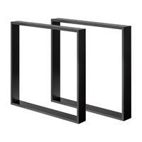 Furniture Legs Europe Zwarte U tafelpoot 72 cm koker 8 x 2 cm (2 stuks)