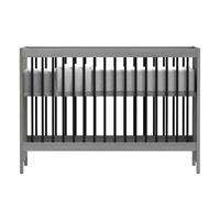 Basicline Vittoria Babybed Grijs / Zwart 60 x 120 cm