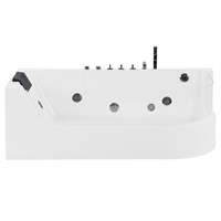 Beliani Whirlpool-bad wit met LED-verlichting ACUARIO