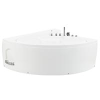 Beliani Whirlpool-bad wit met LED-verlichting PELICAN