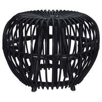 Home&Styling Home&Styling Kruk Brussel kubu rattan zwart
