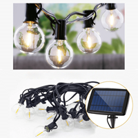 Solar prikkabel Chain met 10 led filament lampen