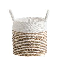 Leen Bakker Mand Bologna - naturel/wit - 30xØ28 cm