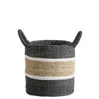 Leen Bakker Mand Bologna - naturel/zwart/wit - 35xØ33 cm