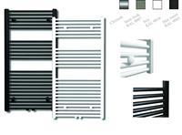 sanicare design radiator midden aansluiting recht 120 x 60 cm. Inox-look