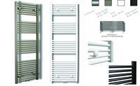sanicare design radiator midden aansluiting recht 160 x 45 cm Inox-look