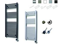 sanicare electrische design radiator 111,8x45cm inox-chroom