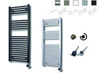 sanicare electrische design radiator 111,8x45cm inox-zwart