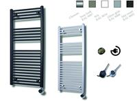 sanicare electrische design radiator 111,8x60cm inox-chroom
