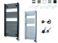 sanicare electrische design radiator 111,8x60cm inox-zwart