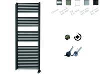 sanicare electrische design radiator 172x60cm zwart-chroom