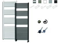 sanicare electrische design radiator 172x60cm inox-zwart