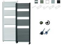 sanicare electrische design radiator 172x60cm zilver-chroom