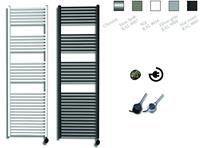 sanicare electrische design radiator 172x45cm chroom-chroom