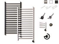 sanicare electrische design radiator Qubic 126,4x60 cm chroom-chroom