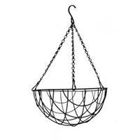 express Hanging basket zwart gecoat - Hanging basket Ø 25 cm