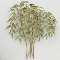 Boltze Home Muurdecoratie bamboe 88x92cm metaal