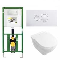 Viega Ecoplus Toiletset 10 Villeroy & Boch O.Novo / Visign For Style 10 Drukplaat - Visign For Style 10 - Wit (596316)