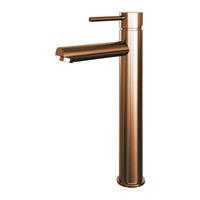 brauer Copper Edition wastafelmengkraan verhoogd, tbv opbouwkom energy-saving Koper Geborsteld PVD