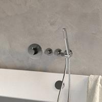 brauer Brushed Edition inbouw badkraan met badvulwaste type 1 Nikkel Geborsteld PVD