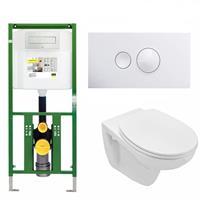 Viega Ecoplus Toiletset 01 Basic Wandcloset Softclose Met Bril En Drukplaat - Visign For Style 10 - Wit (596316)