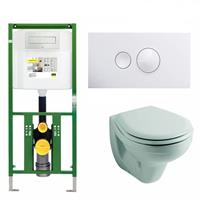 Viega Ecoplus Toiletset 05 Sphinx Econ 2 Met Visign For Style 10 Drukplaat - Visign For Style 10 - Wit (596316)