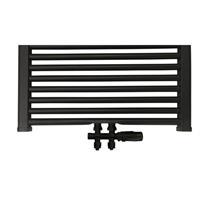 Best Design Nero-Luxe universele radiator aansluitset midden onder recht zwart mat 4009880