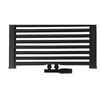Best Design Nero-Luxeuniversele radiator aansluitset midden onder haaks zwart mat 4009900