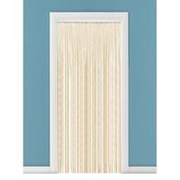 Vliegengordijn/deurgordijn kralen naturel 90 x 200 cm Beige