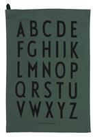 designletters Design Letters - Classic Tea Towel - Dark Green (10503000DARKGREEN)