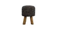 HSM Collection Kruk Malibu - ø34 cm - raffia - black wash