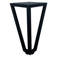 Furniture Legs Europe Zwarte wire poot driehoek 18 cm met bevestigingsplaat