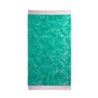 KAAT strandlaken Fresh Mint groen/roze (100x180 cm)