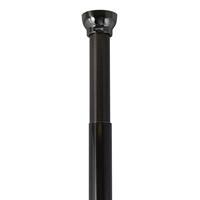 Spirella douchestang Kreta 125-220cm zwart