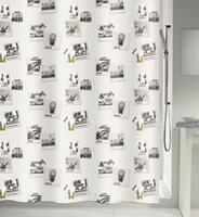 MSV douchegordijn Polan multikleur 180cm