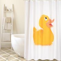 MSV douchegordijn Duck geel 180cm