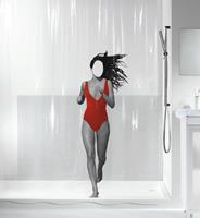 Spirella douchegordijn Dana Red 180cm