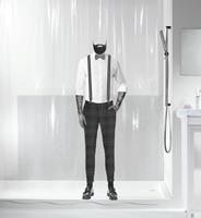 Spirella douchegordijn Dandy Black 180cm