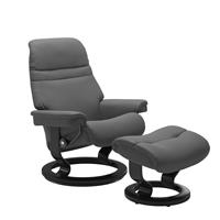 Stressless Fauteuil + Hocker Sunrise Small Grey