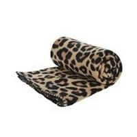 Fleece deken luipaard/panter print 130 x 160 cm Multi