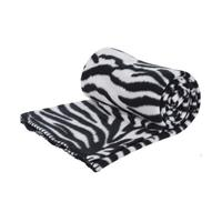 Fleece deken zebra print 130 x 160 cm Multi