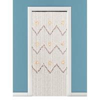 Vliegengordijn/deurgordijn kralen bruin 90 x 200 cm Bruin