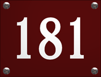 Topemaille Emaille Huisnummer gebold zonder kader