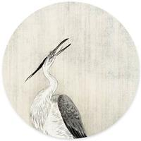 Groovy Magnets Heron In The Rain Magneetsticker