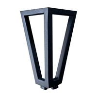 Furniture Legs Europe Zwarte wire poot driehoek 13 cm met bevestigingsplaat
