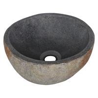 saniclear Natural riviersteen toilet waskom 23-25cm