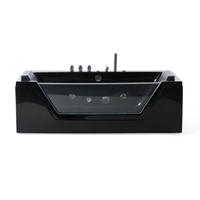 Beliani Whirlpool badkuip zwart 150 cm SAMANA