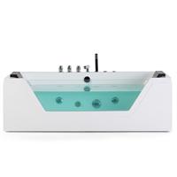 Beliani Whirlpool badkuip wit 160 cm SAMANA