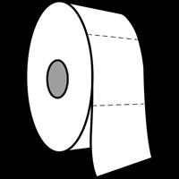 Praxis Edge toiletpapier Mini Jumbo tweelaags cellulose 12x180m